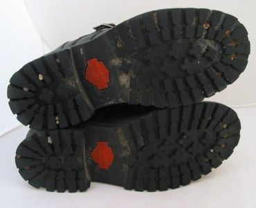 Davidson Black Leather Womens Size 8 UK 9 EU 39 Motorcycle Boots