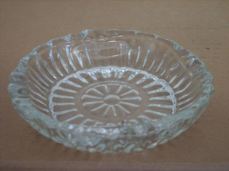 PASARI INDONESIA CLEAR GLASS ASHTRAY