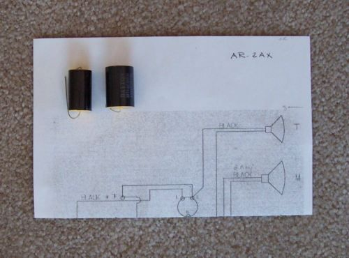 ACOUSTIC RESEARCH AR 2AX CROSSOVER CAPACITORS   ALSO AR 2A