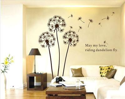 Removable HD Dandelion Flower Tree in the wind Wall Sticker#002