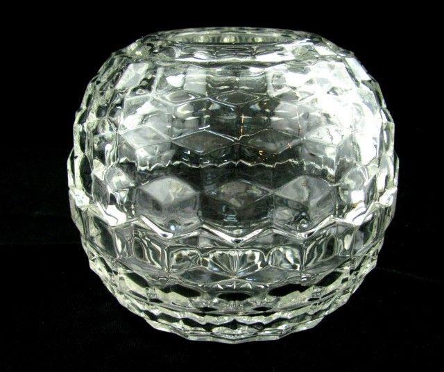 Fostoria American Glass Crystal Fairy Lamp Votive Candle Holder