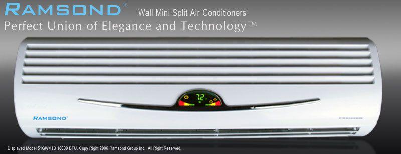 RAMSOND 18000 BTU MINI SPLIT DUCTLESS AIR CONDITIONER